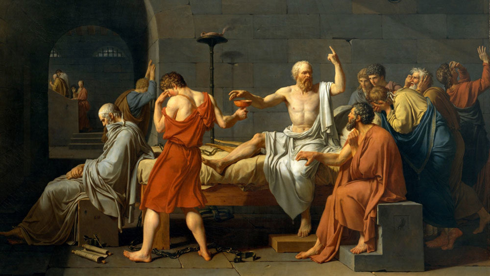 Death of Socrates.    By Jacques-Louis David
