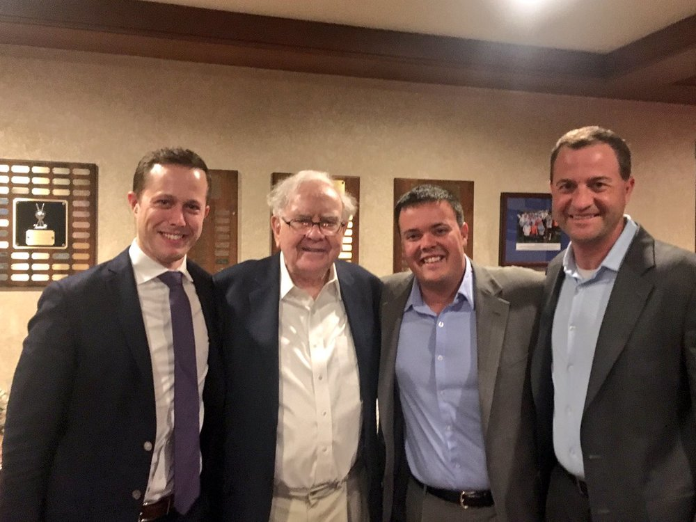 Brent Beshore (second to the right) with Warren Buffett