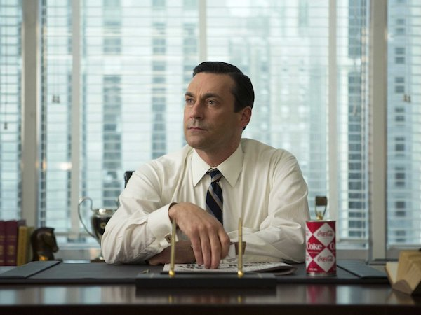 Don Draper, the main character in  Mad Men