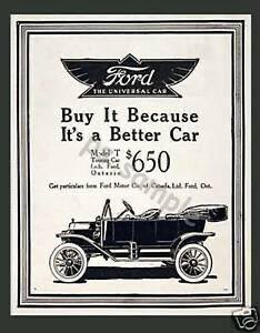 An advertisement for Ford in the Real Estate Economy -- an age when advertisements were more straightforward.