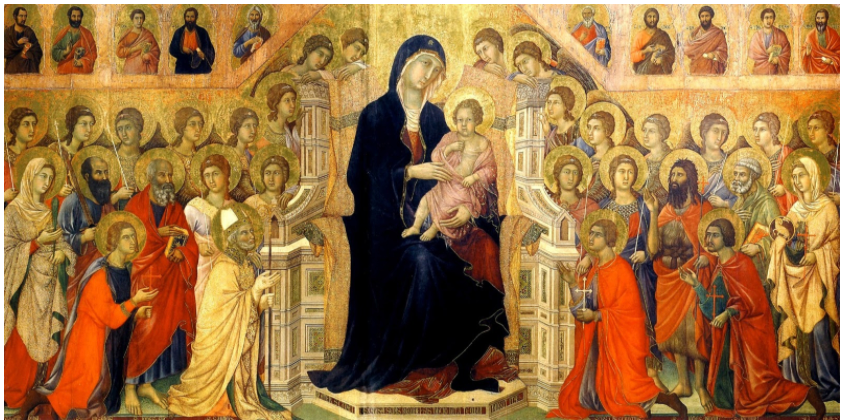 The flat painting completed by the artist Duccio di Buoninsegna in 1310.