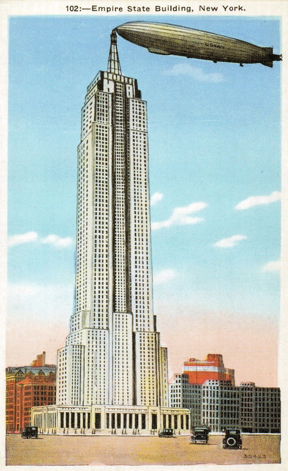 Landing strip on top of the Empire State Building    Source:   Late Sylvia Guyton